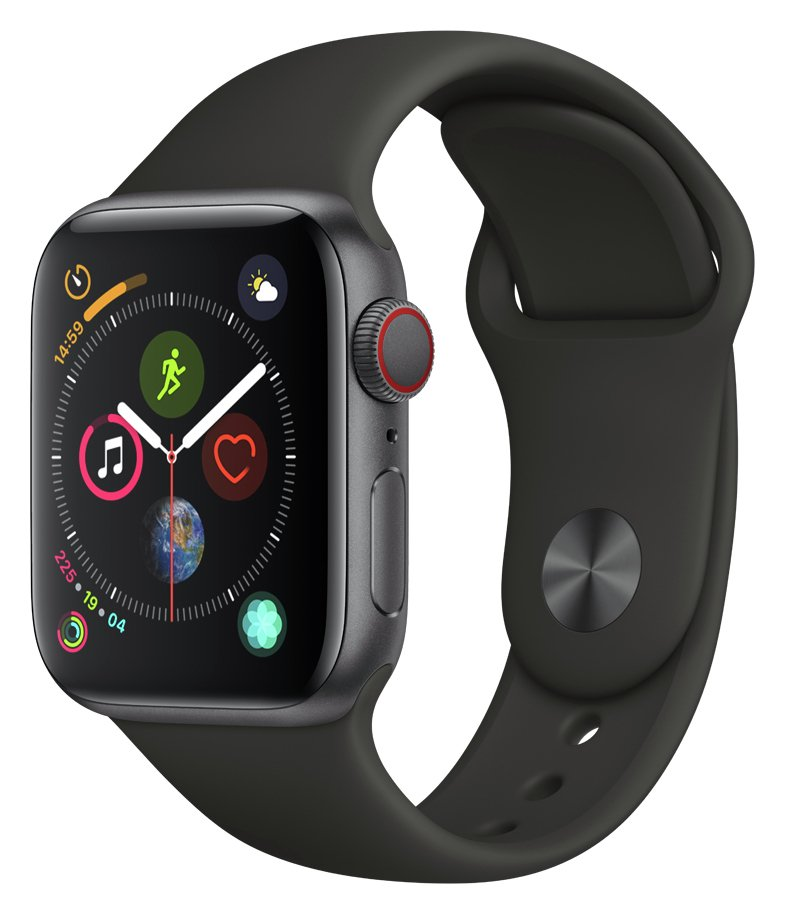 Apple Watch S4 Cell 40mm - Grey Alu / Black Sport Band