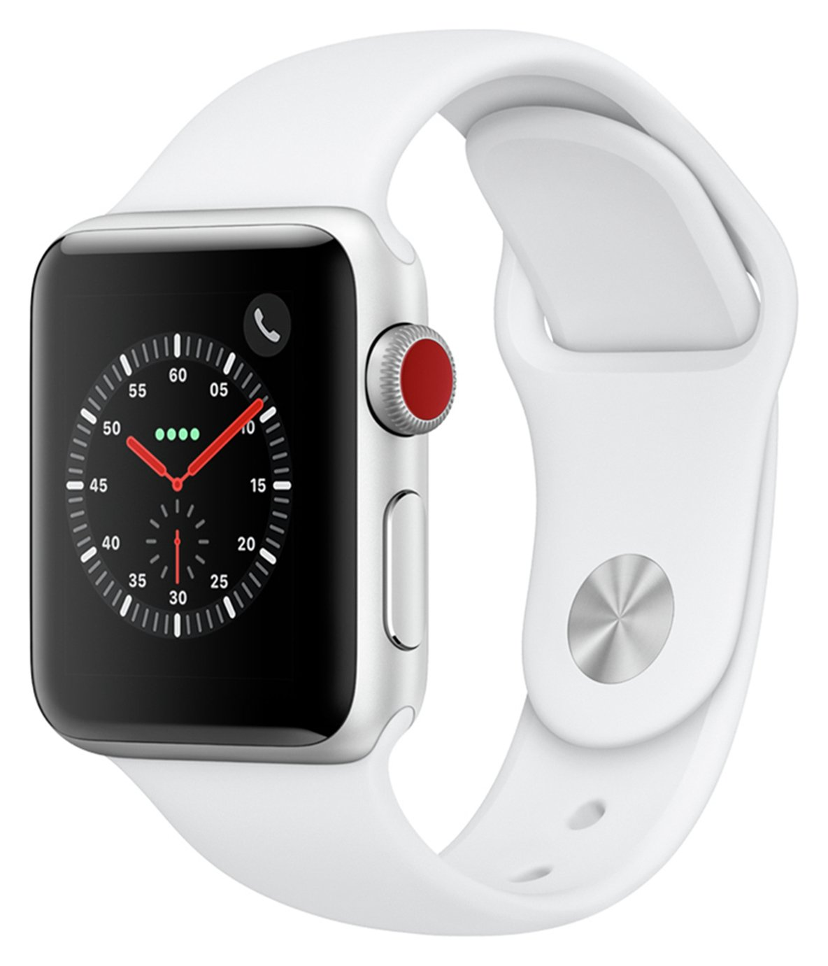Apple Watch S3 2018 Cellular 38mm - Alu / White Sport Band