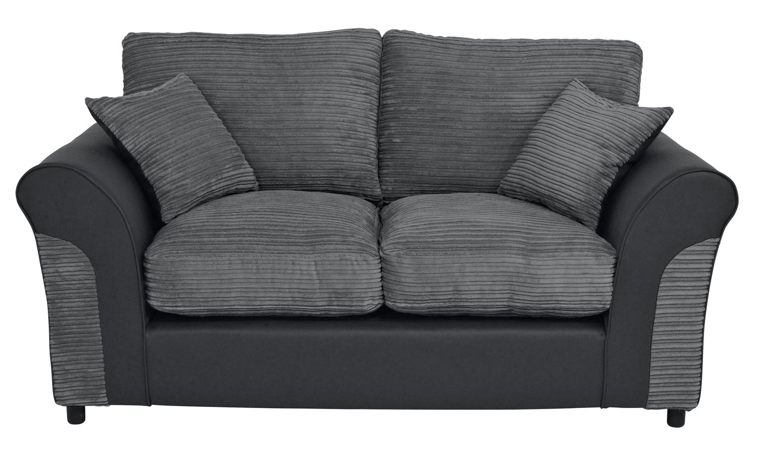 Argos Home Harry 2 Seater Fabric Sofa bed - Charcoal