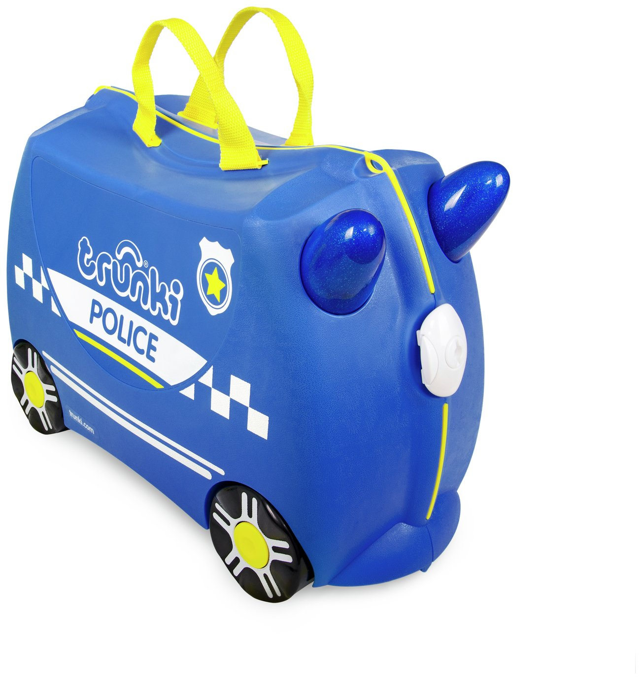 Trunki Percy Police Car 4 Wheel Hard Ride On Suitcase - Blue