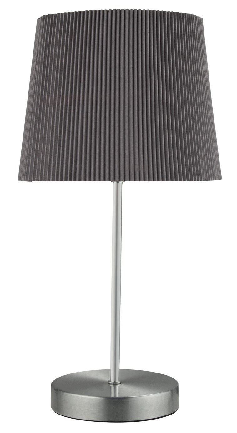 Argos Home Plia Grey Tapered Micropleat Table Lamp