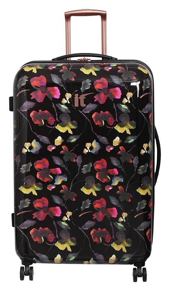it Luggage Large Expandable 8 Wheel Hard Suitcase - Floral