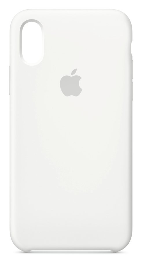 Apple iPhone Xs Silicone Phone Case - White