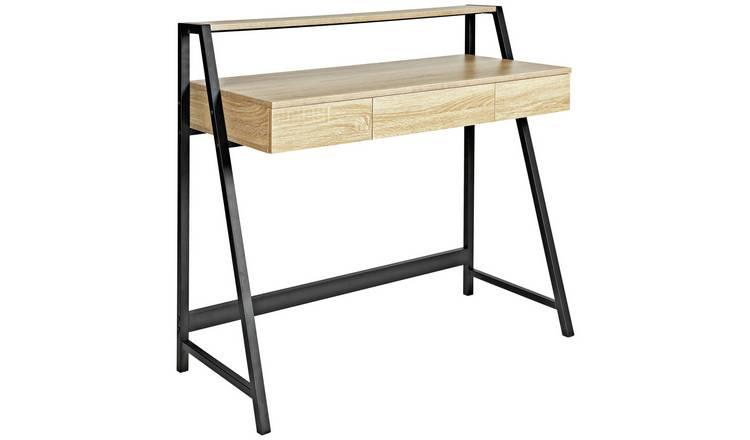 Buy Argos Home Desk With Shelf Oak Effect Office Desks Argos