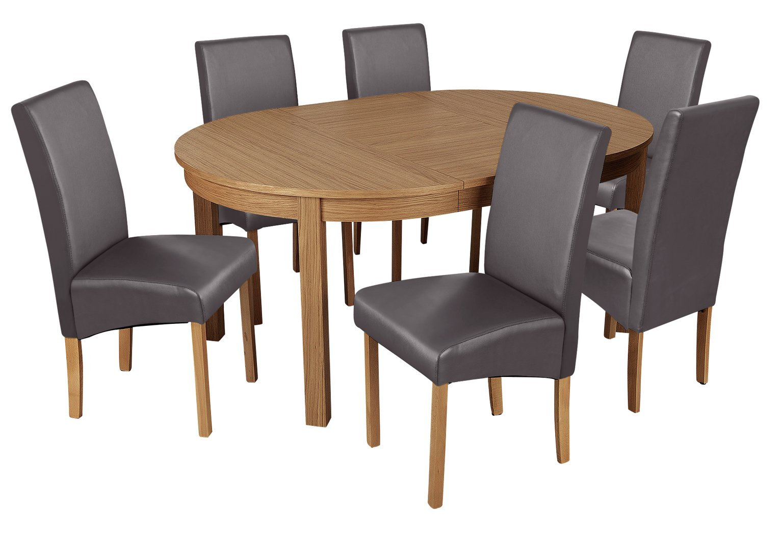 Argos Home Clifton Extendable Table & 6 Chairs - Charcoal
