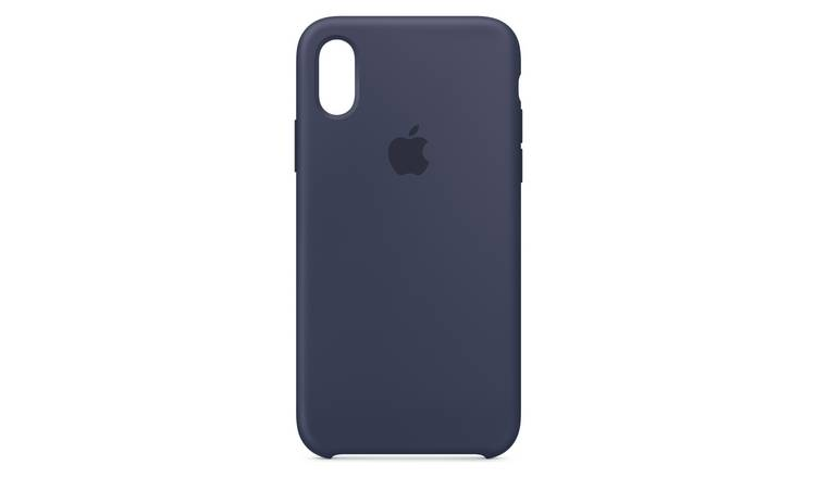 brand new 1526b 04b6b Buy Apple iPhone Xs Silicone Phone Case - Midnight Blue   Mobile phone  cases   Argos