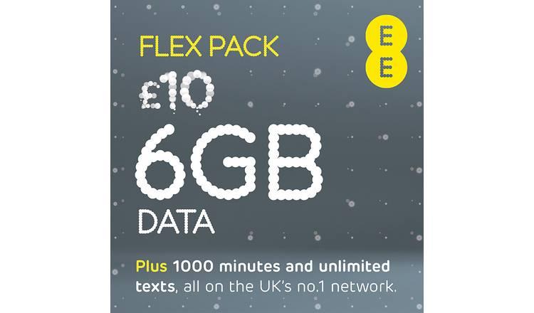 Buy EE Flex Pay As You Go 30 Day Plan SIM Card | Mobile phone SIM cards |  Argos