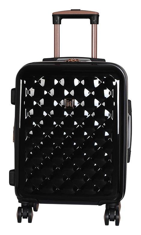 IT Luggage Expandable 8 Wheel Hard Cabin Suitcase - Black