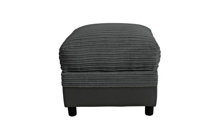 Argos Home Harry Fabric Storage Footstool - Charcoal