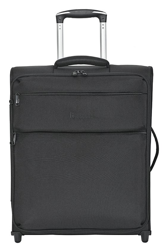 IT Luggage 2 Wheel Soft Cabin Suitcase - Black