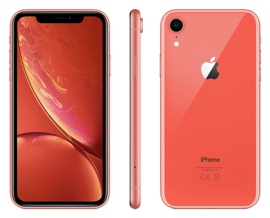 Sim Free iPhone XR 64GB Mobile Phone - Coral