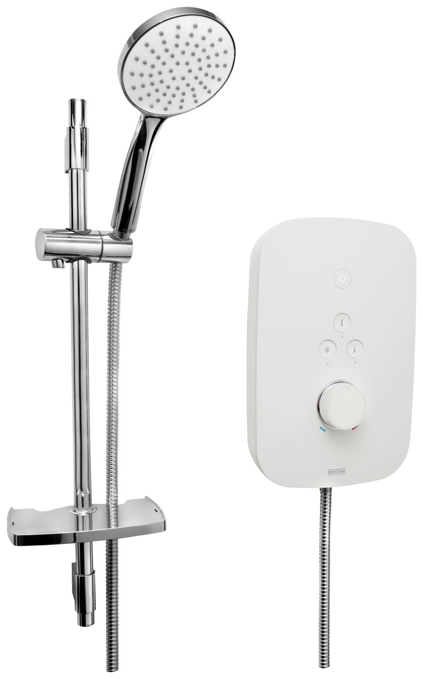 Bristan Solis 9.5kW Electric Shower - White
