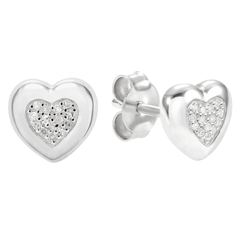 Revere Sterling Silver Diamond Heart Stud Earrings review