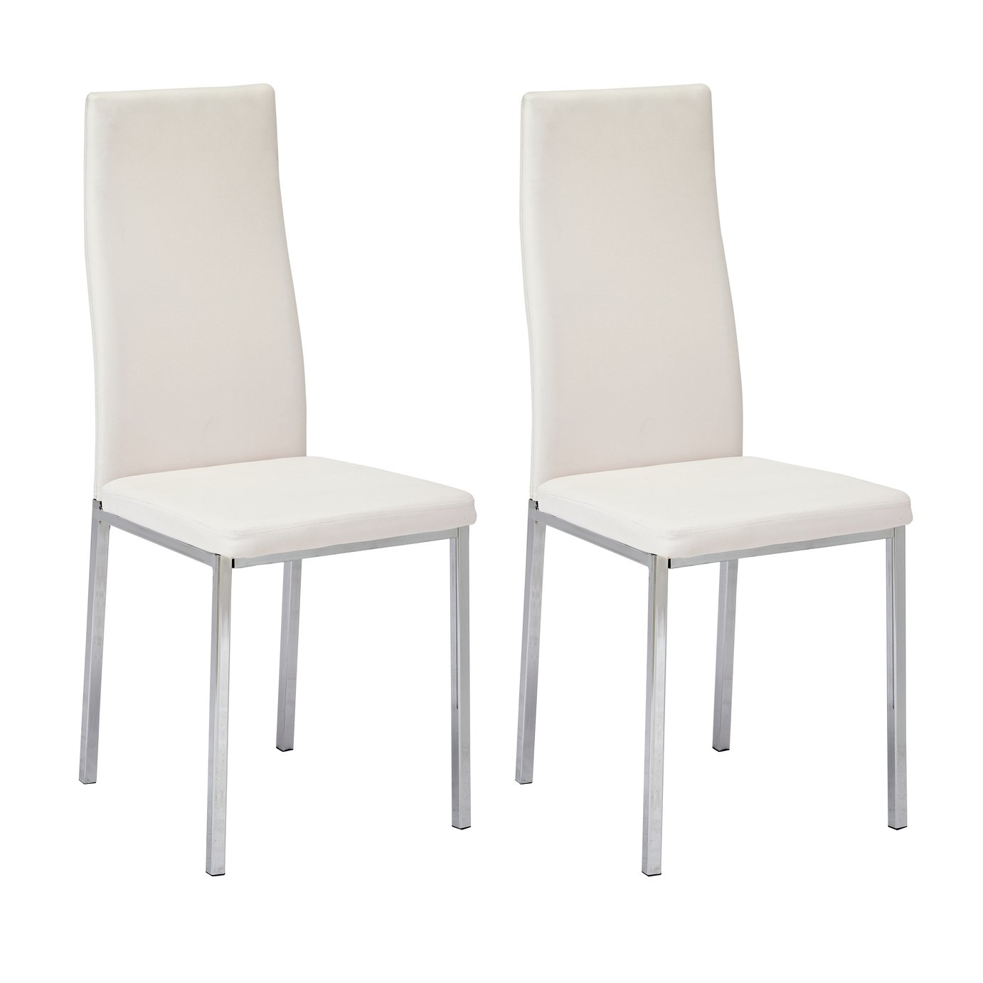 Argos Home Tia Pair of Chrome Dining Chairs review