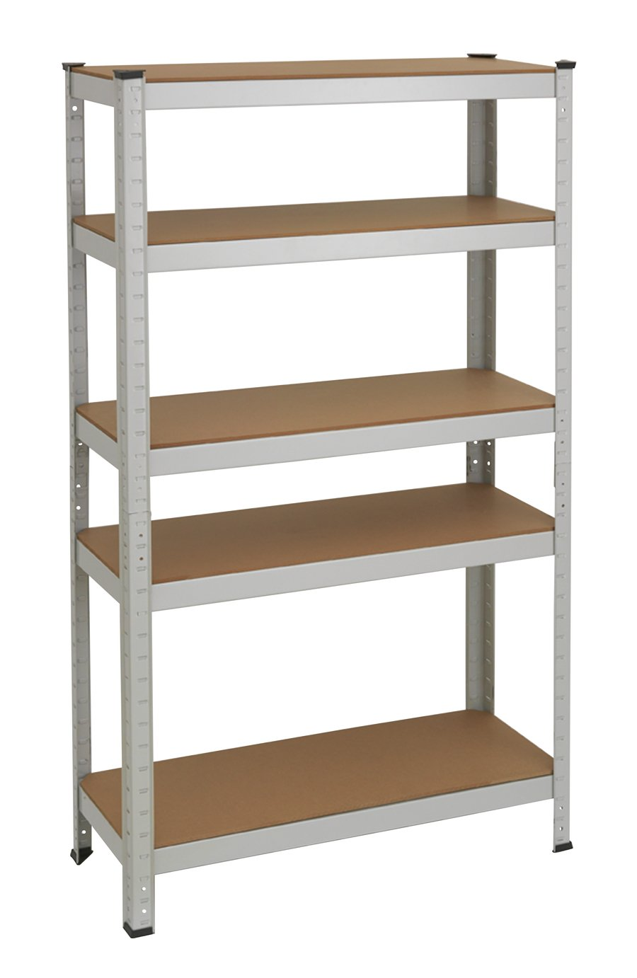 Argos Home 5 Tier Grey Steel Heavy Duty Garage Shelving ...