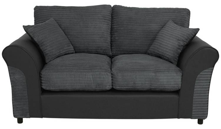 Buy Argos Home Harry 2 Seater Fabric Sofa Charcoal | Sofas | Argos