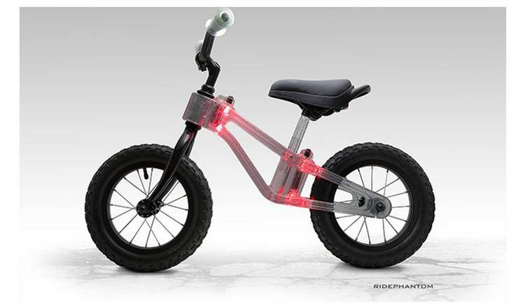 Ride Phantom Red 10 inch Wheel Size Kids Balance Bike