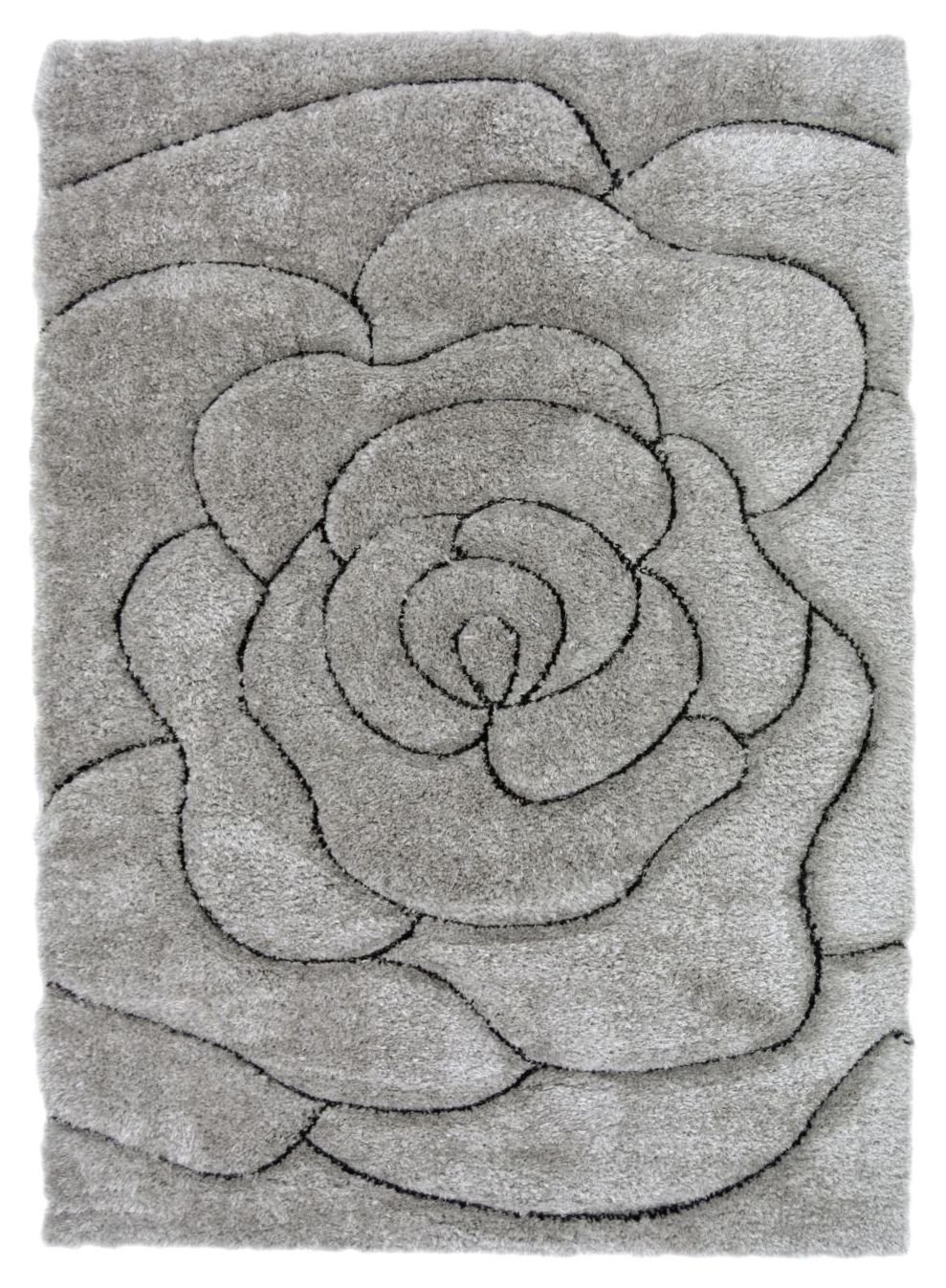 Fresno Rose Rug - 160x230cm - Grey