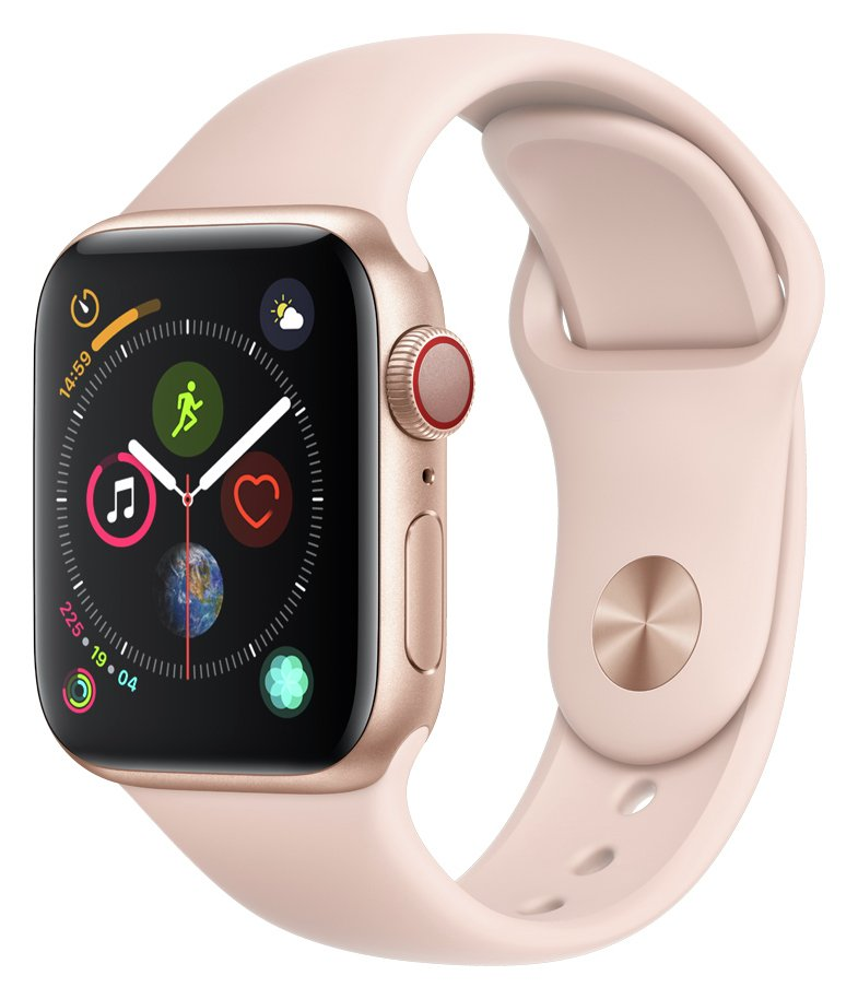 Apple Watch S4 Cell 40mm - Gold Alu / Pink Sport Band