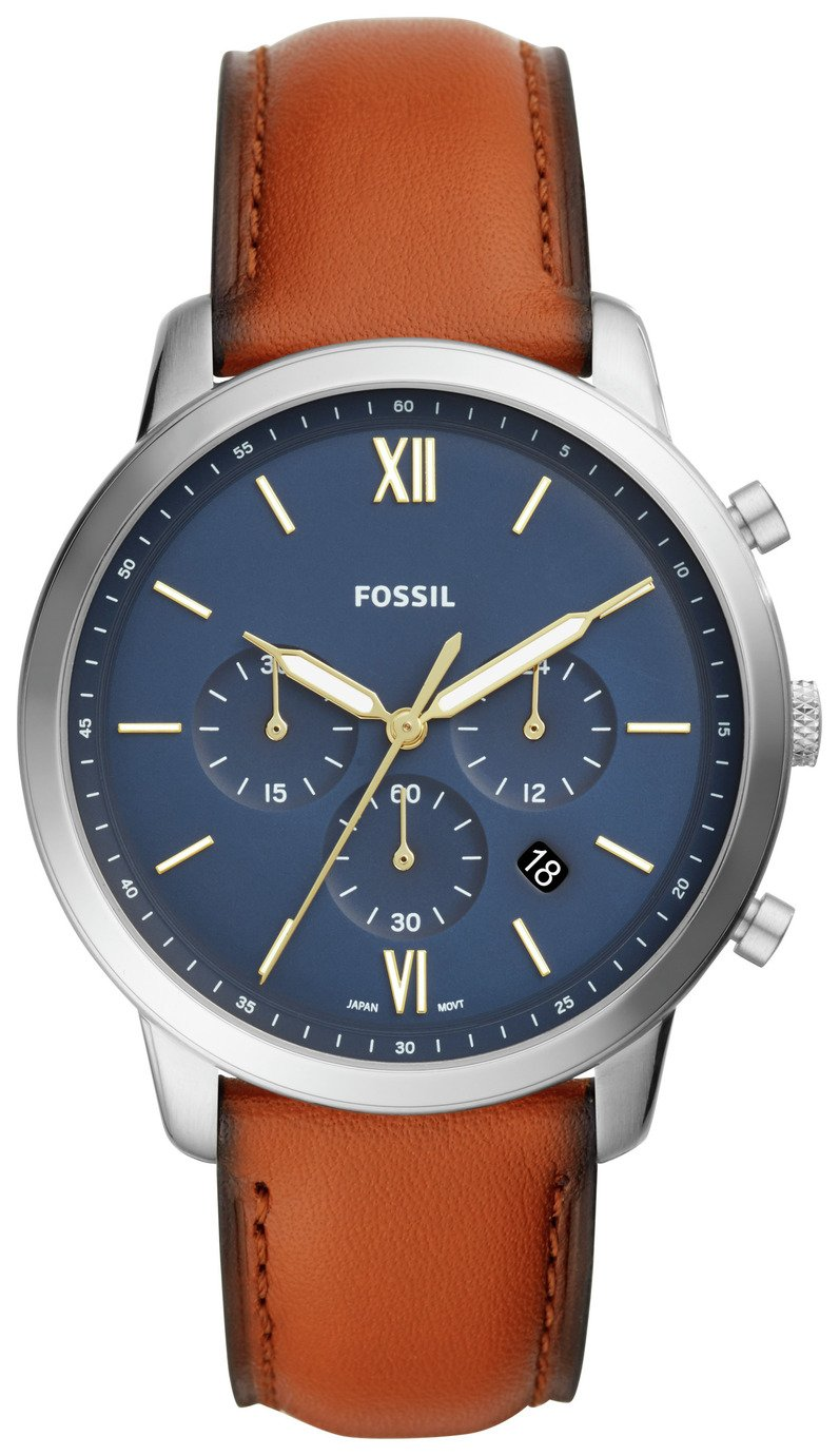 Fossil Neutra Chronograph Mens Brown Leather Strap Watch
