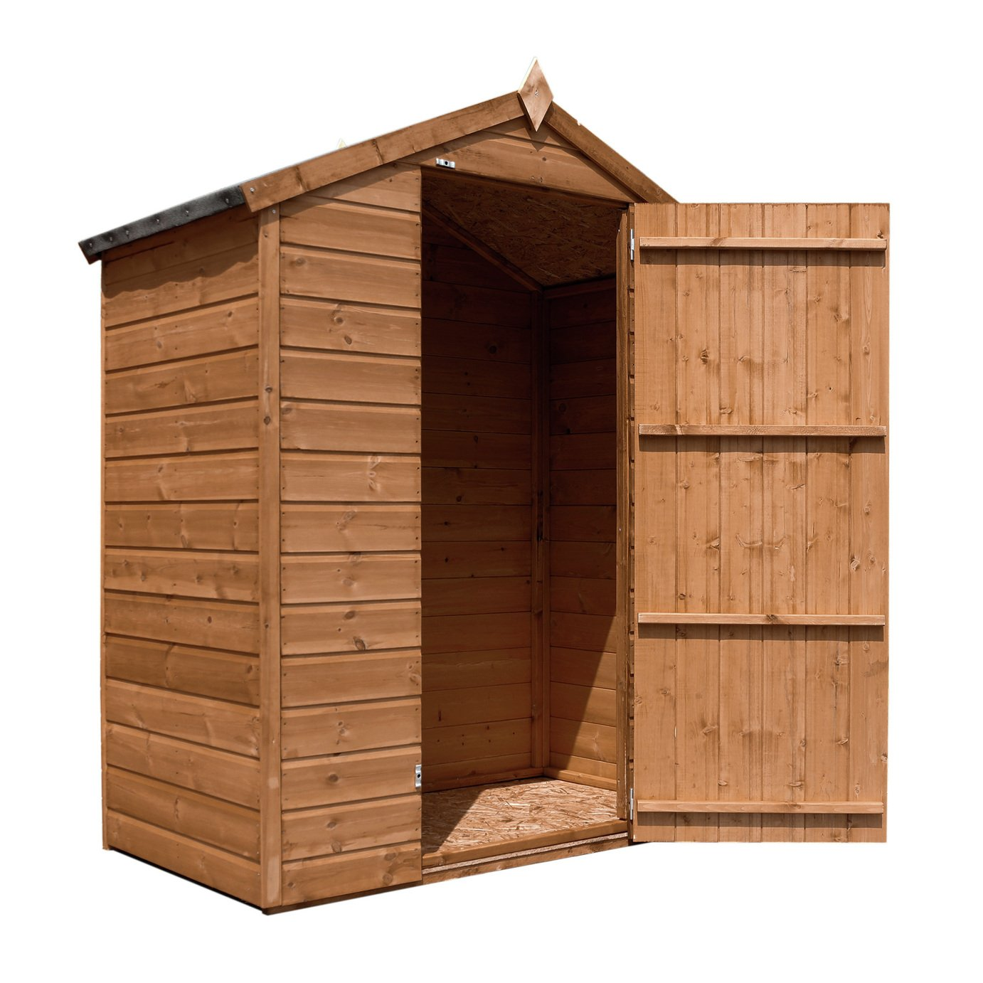 Mercia Wooden 5 x 3ft Shiplap Apex Windowless Shed