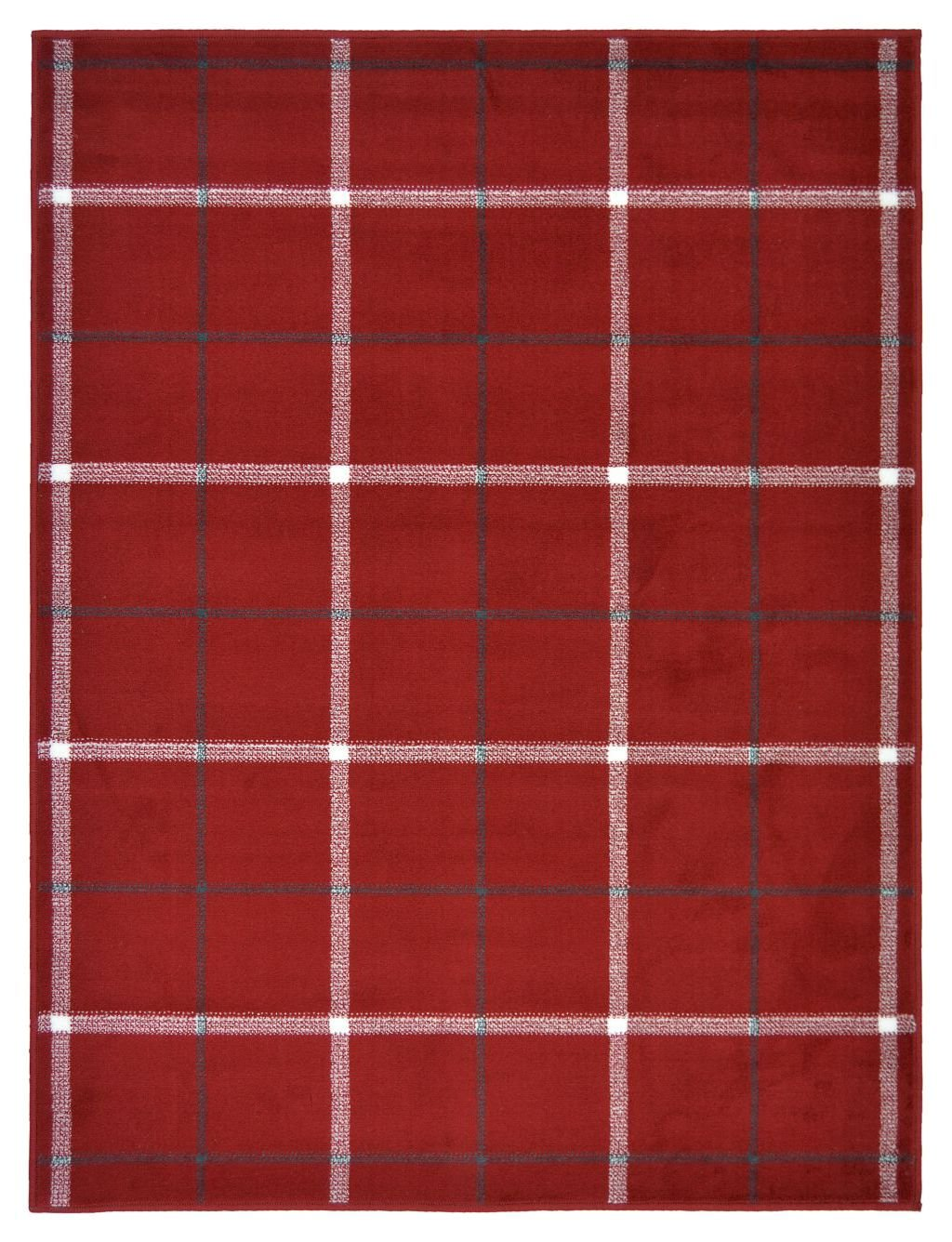 Highland Check Rug - 120x170cm - Red