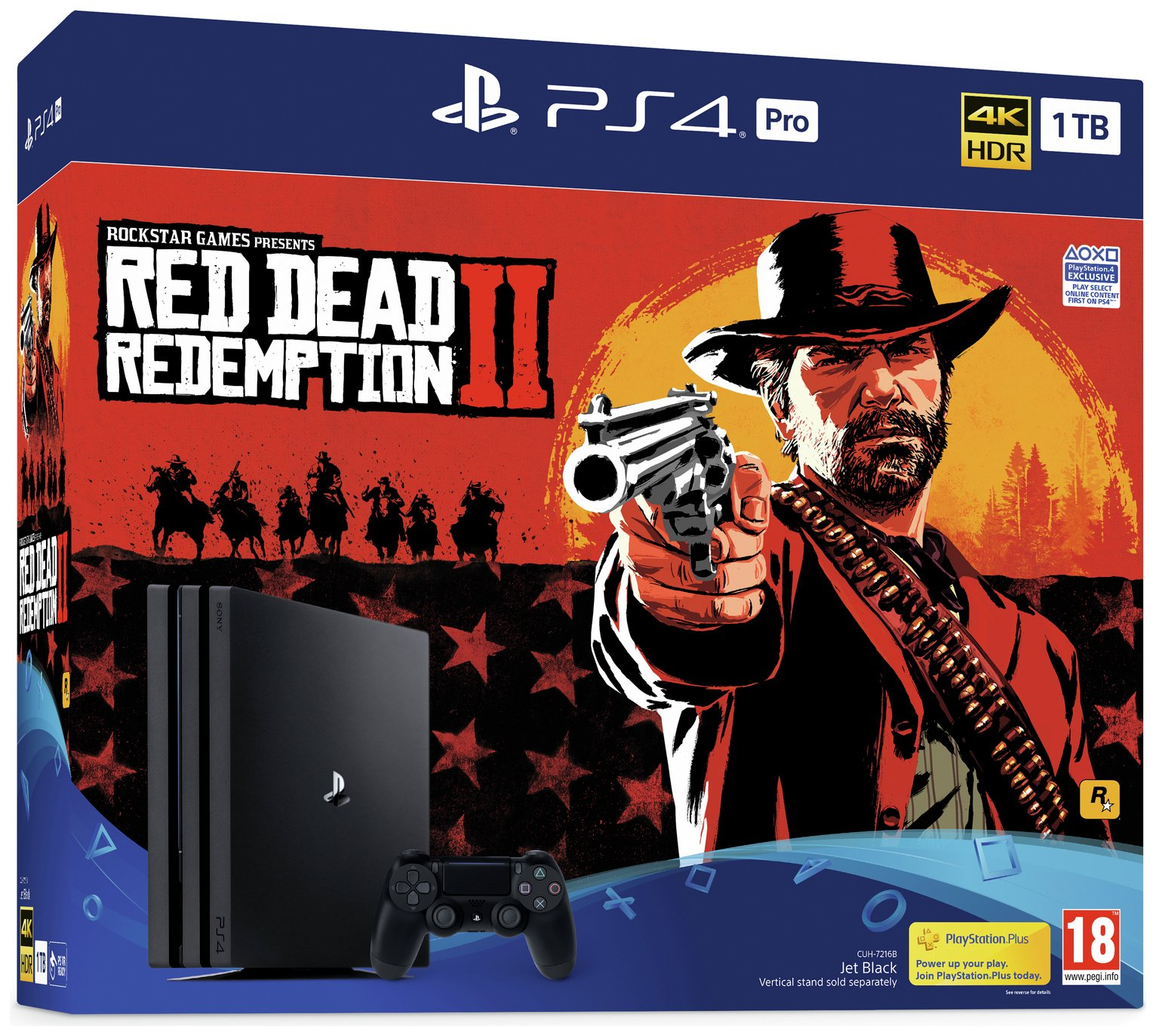 Sony PS4 Pro 1TB Console and Red Dead Redemption 2 Bundle