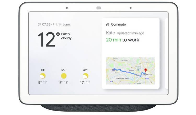 Buy Google Nest Hub - Charcoal | Smart speakers | Argos