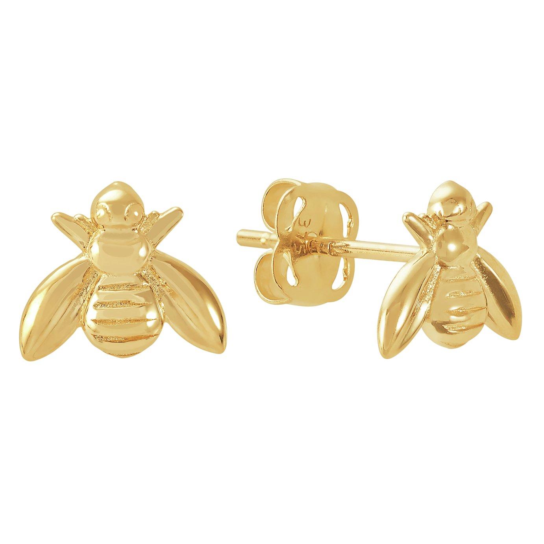 Revere 9ct Yellow Gold Bee Stud Earrings