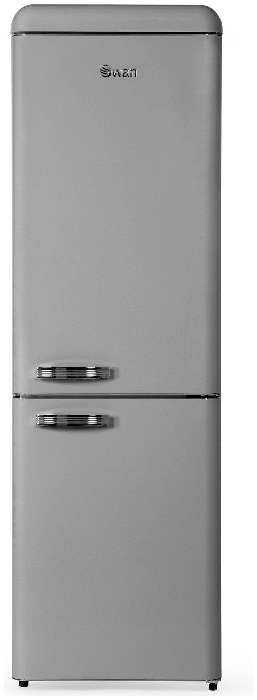 Swan SR11020FGRN Retro Fridge Freezer - Grey