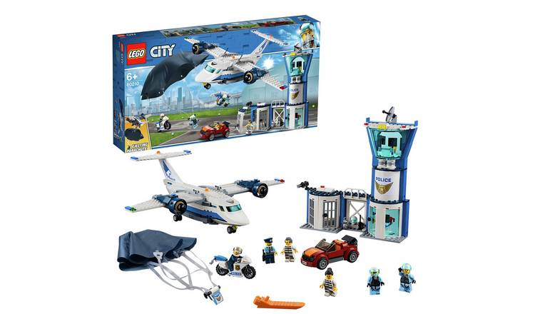LEGO City Sky Police Air Base Tower Toy Plane & Car - 60210
