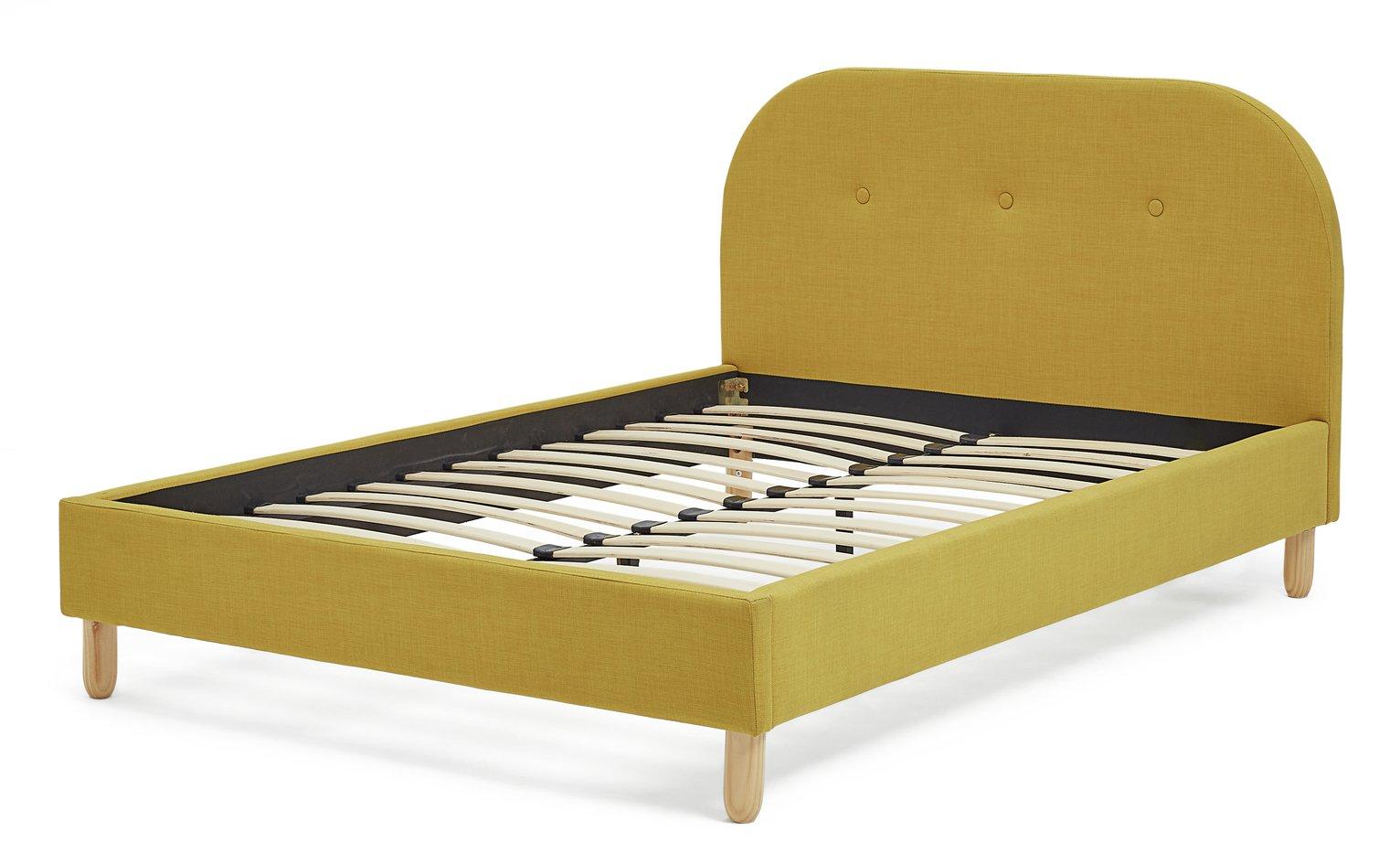 Argos Home Elin Mustard Double Bed Frame