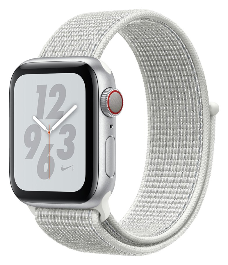 Apple Watch S4 Nike Cellular 40mm - Silver / White Loop Band