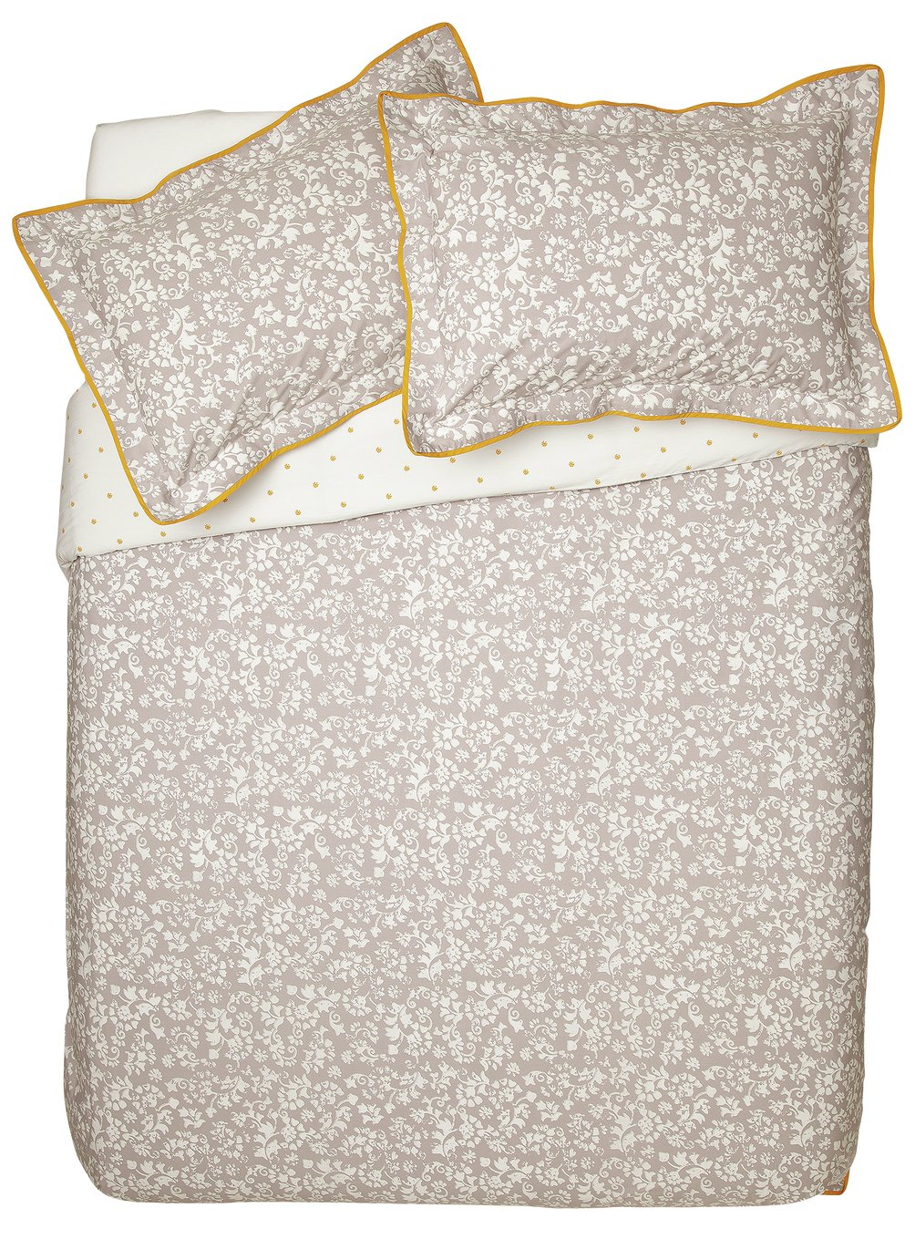 Argos Home Monochrome Floral Bedding Set - Double