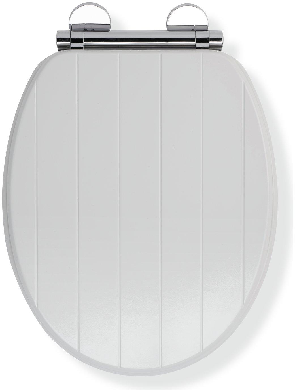 Croydex Portland Flexi-Fix Toilet Seat - White