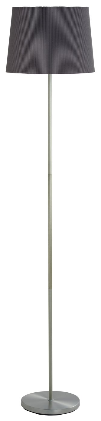 Argos Home Plia Tapered Micropleat Floor Lamp - Grey