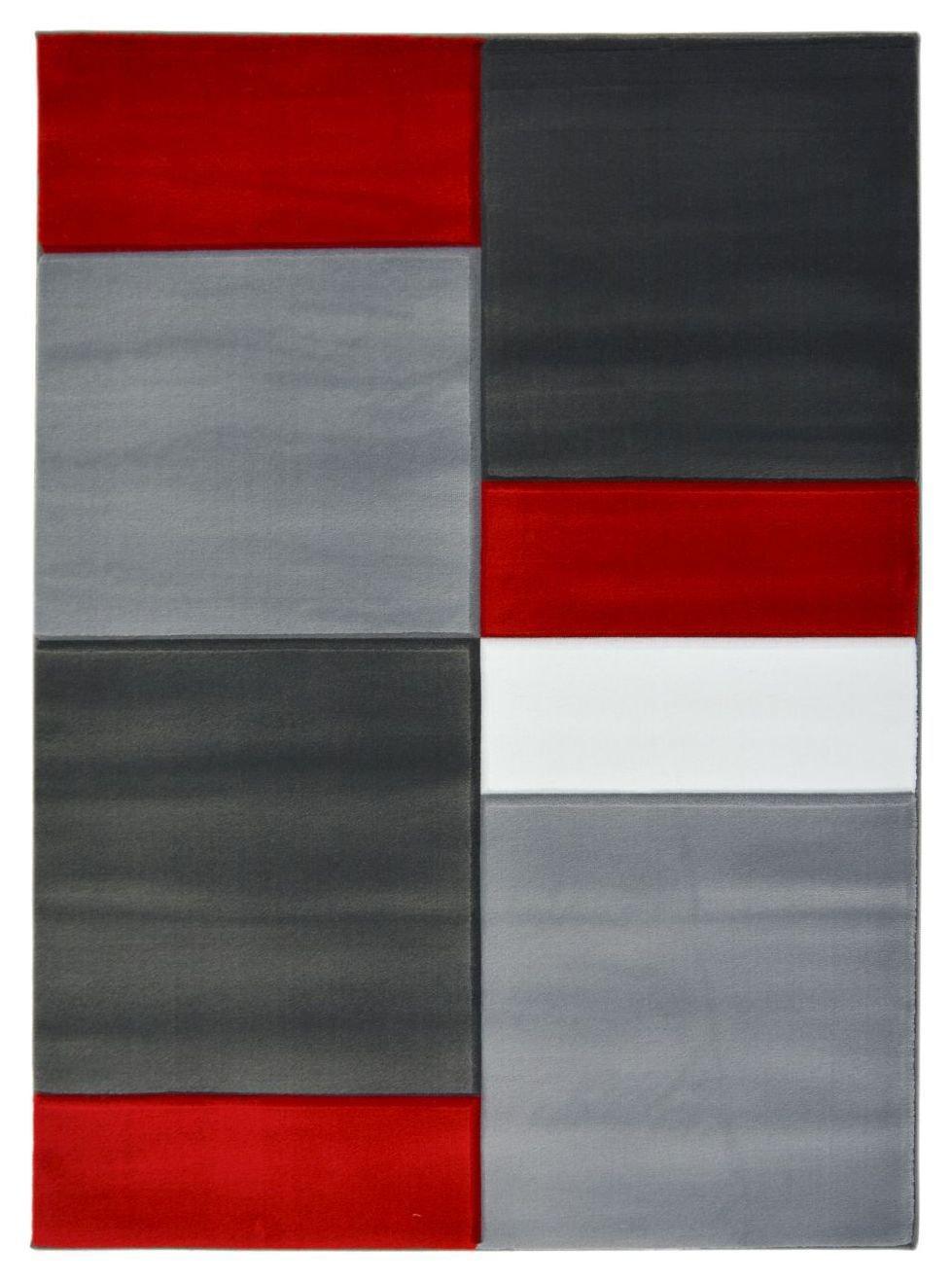 Homemaker Melrose Daytona Blocks Rug - 120x170cm - Red