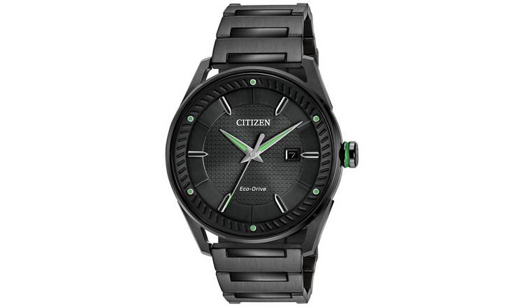 Citizen Mens Black Stainless Steel Watch