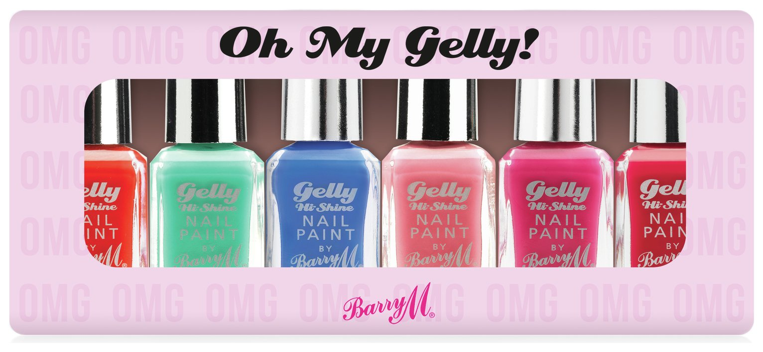 Barry M Cosmetics Gelly Hi Shine Nail Paints x 6