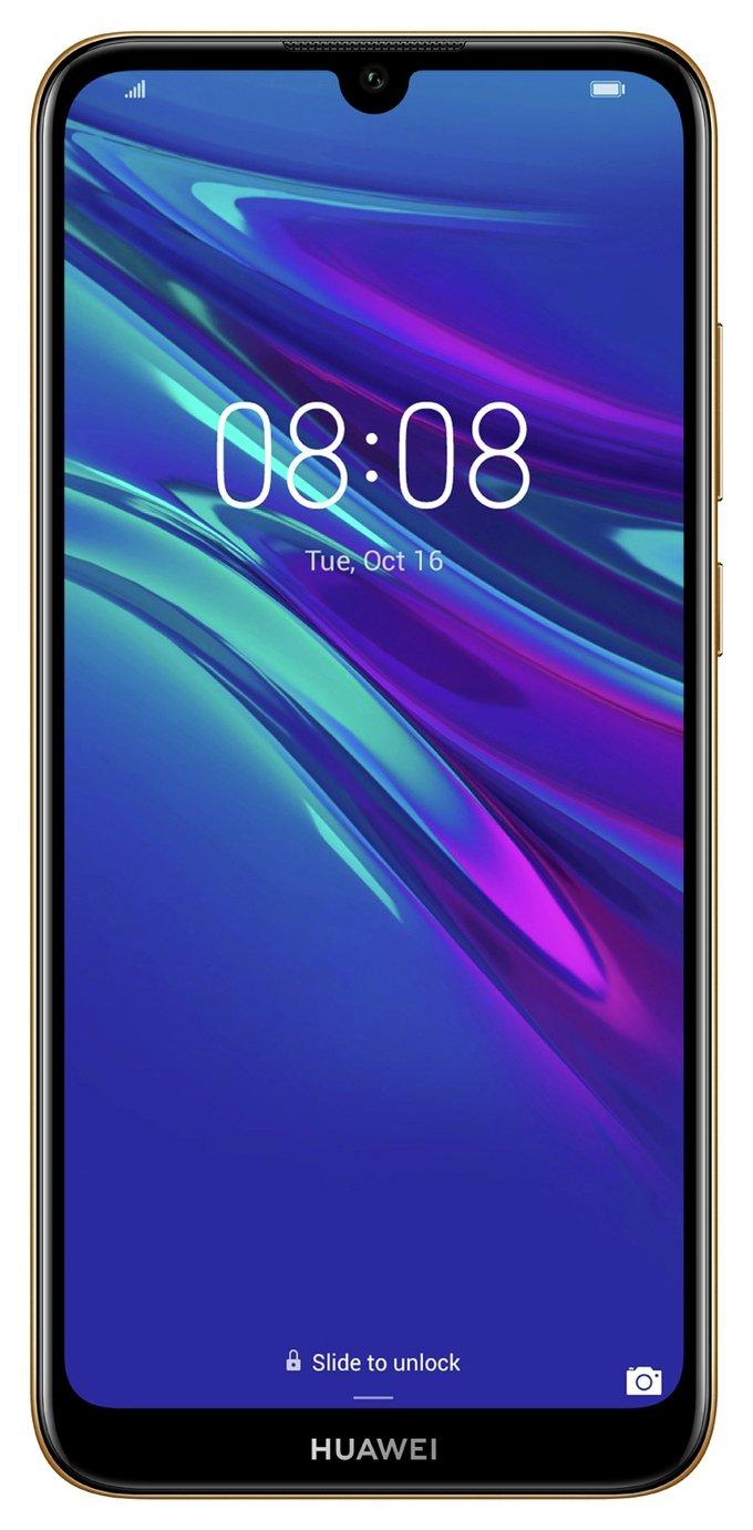 SIM Free Huawei Y6 64GB Mobile Phone - Amber Brown
