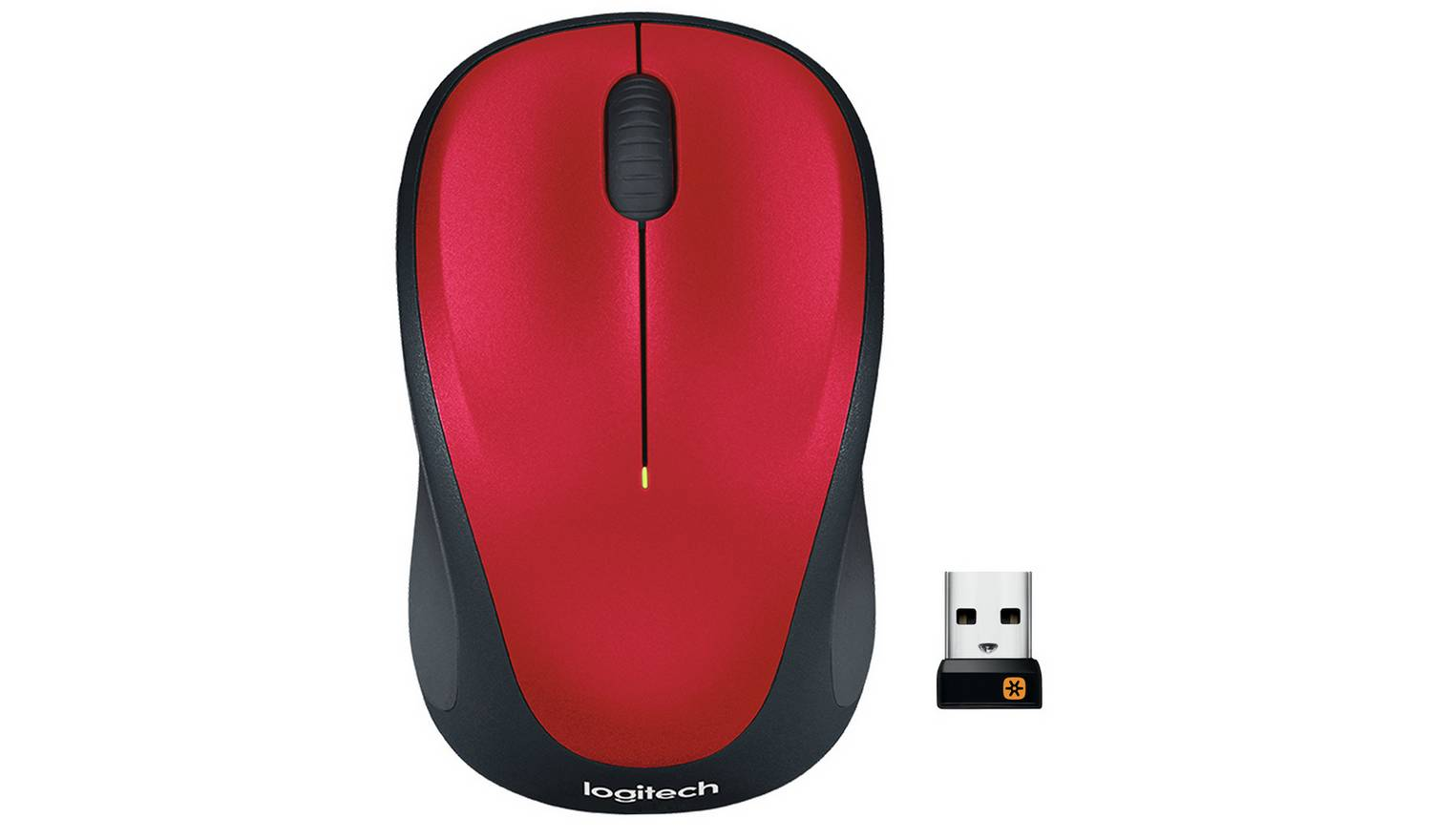 Logitech M235 Wireless Optical Mouse - Red