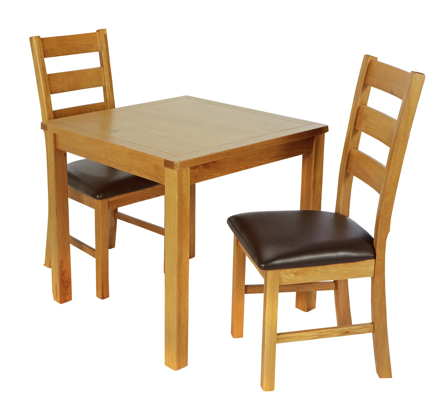 Argos Home Ashwell Oak Veneer Table & 2 Farmhouse Chairs