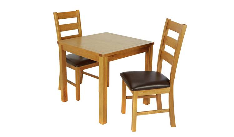 Argos Home Ashwell Oak Veneer Table & 2 Farmhouse Chairs