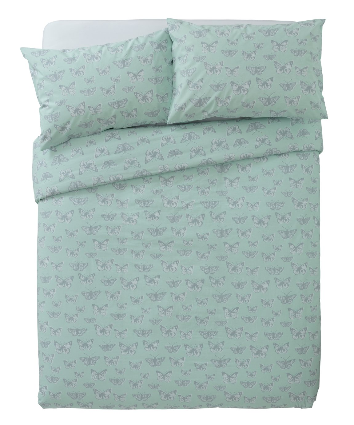 Argos Home Botanical Garden Butterfly Bedding Set - Kingsize