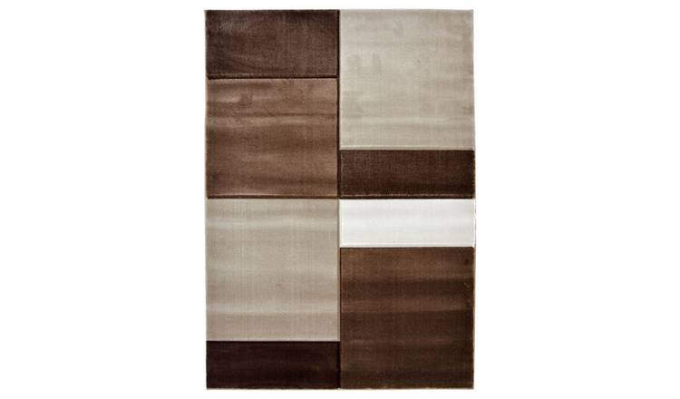 Homemaker Melrose Daytona Blocks Rug - 80x150cm - Natural