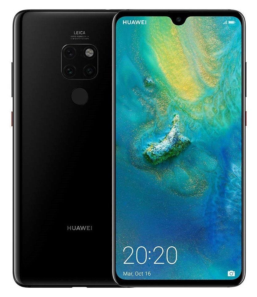 SIM Free Huawei Mate20 128GB Mobile Phone - Black