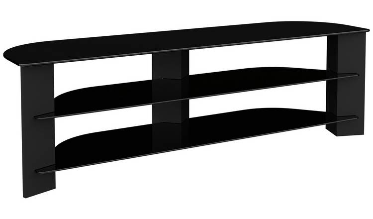 lowest price 07fe5 9712f Buy AVF Up to 75 Inch TV Stand - Black Glass and Wood Effect | TV stands |  Argos