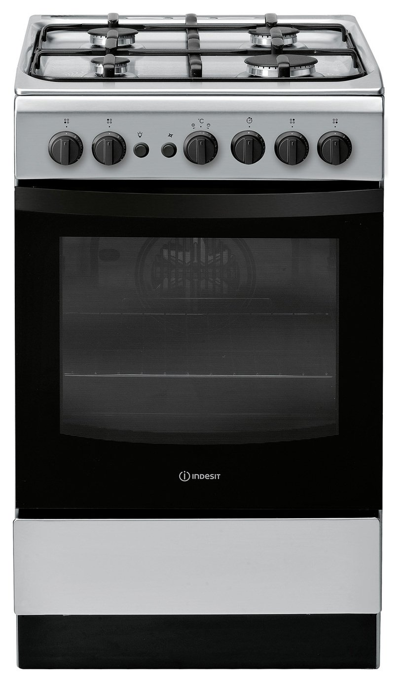 Indesit IS5G1PMSS 50cm Gas Cooker - Silver