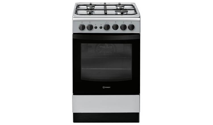 Indesit IS5G1PMSS 50cm Single Oven Gas Cooker - Silver