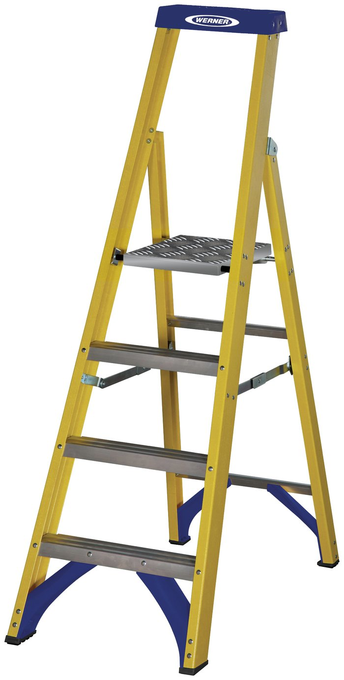 Werner Platform Step Ladder